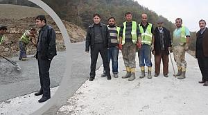 Yakakent İlçesi'nde Beton Yol Çalışması