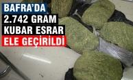 Bafra'da 2.742 gram Kubar Esrar Yakalandı