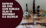 Bafra'da Bir Evde Silah ve Mühimmat Bulundu