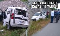 Bafra#039;da Trafik Kazası; 1 Yaralı