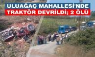 Bafra#039;da Traktör Devrildi: 2 Kişi Öldü