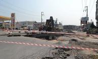 Bafra'da Yol Çöktü, Faciadan Dönüldü