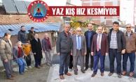 Bafra Belediyesi Yaz Kış Hız Kesmiyor