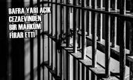 Bafra Yarı Açık Cezaevinden Bir Mahkûm Firar Etti