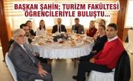 Başkan Şahin; Turizm Fakültesi Öğrencileriyle Buluştu