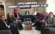Bafra KAMUSEN'den Cumhuriyet Başsavcısı Türkmen'e Ziyaret