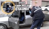 Bafra'da Otomobil Hırsızları İş Başında