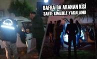 Bafra#039;da Aranan Kişi Sahte Kimlikle Yakalandı