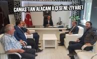 Abdurrahman Çamaş'tan Kaymakam Çağlar ve Başkan Uyar'a Ziyaret