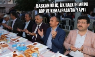 Başkan Kılıç, İlk Halk İftarını GOP ve Kemalpaşa'da Yaptı