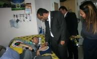 Mosturoğlu'ndan Fenerbahçeli kas hastası taraftara ziyaret