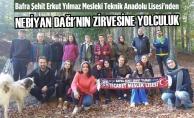 """""""Samsun Turizm Elçisiyim"""" Projesi Nebiyan Dağı Zirvesinde"""
