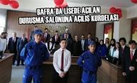 Bafra'da Lisede Duruşma Salonu Açıldı