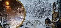 Alaçam İlçesinde Karla Mücadele Çalışmaları...