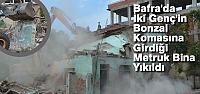 Bafra'da İki Katlı Metruk Bina...