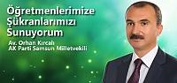 Orhan Kırcalı'dan Öğretmenler Günü...