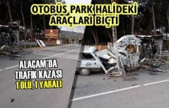 Alaçam'da Trafik Kazası; 1 Ölü, 1 Yaralı