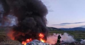 Bafra'da Çıkan Yangın Korkuttu