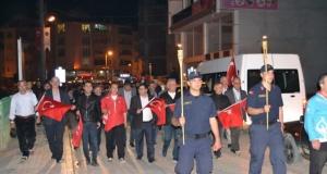 Alaçam'da Fener Alayı Gerçekleştirildi