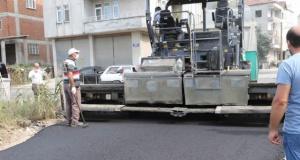Bafra'da Asfalt Mesaisi Sürüyor
