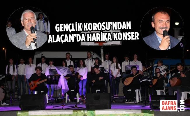 Gençlik Korosu'ndan Alaçam'da Harika Konser