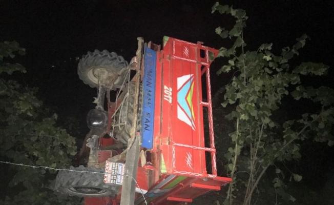 Ordu'da tarım aracı devrildi: 3 yaralı