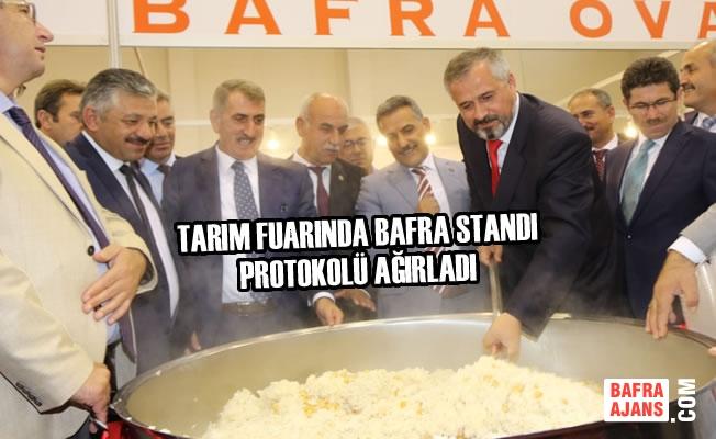 Tarım Fuarında Bafra Standı Protokolü Ağırladı