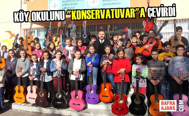 "Köy Okulunu ""Konservatuvar""a Çevirdi"