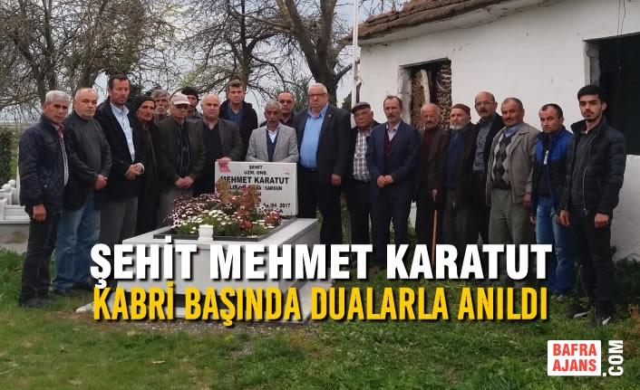 Şehit Mehmet Karatut Kabri Başında Dualarla Anıldı
