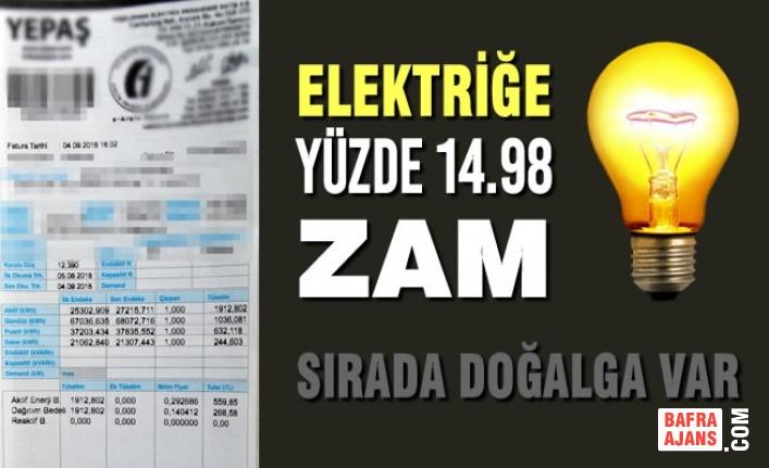 Elektriğe 1 Temmuz'dan İtibaren Yüzde 14.98 Zam