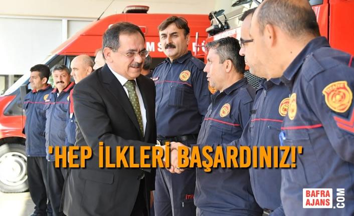Başkan Mustafa Demir'den İtfaiye Teşkilatı'na Övgü