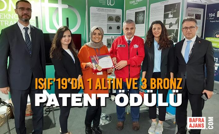 ISIF'19'da 1 Altın ve 3 Bronz Patent Ödülü