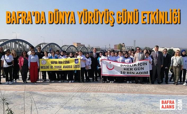 Bafra'da Dünya Yürüyüş Günü Etkinliği