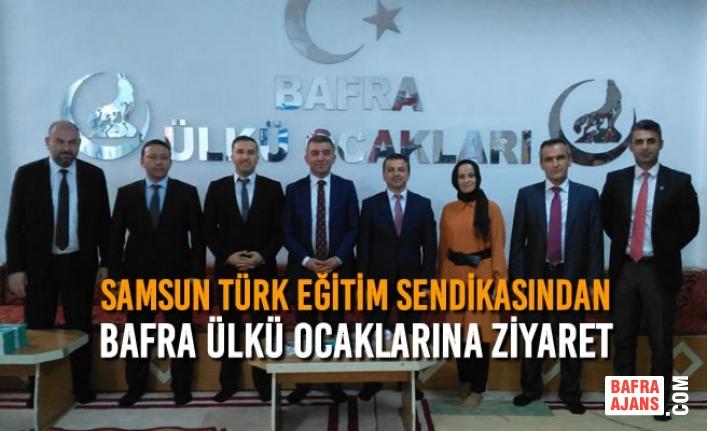 Samsun Türk Eğitim Sendikasından Bafra Ülkü Ocaklarına Ziyaret