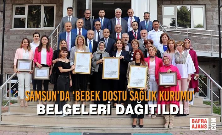 Samsun'da 'Bebek Dostu Sağlık Kurumu' Belgeleri Dağıtıldı