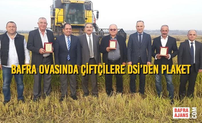 Bafra Ovasında Çiftçilere DSİ'den Plaket