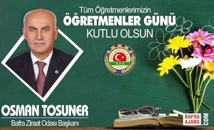 Başkan Tosuner'in Öğretmenler Günü Kutlama Mesajı