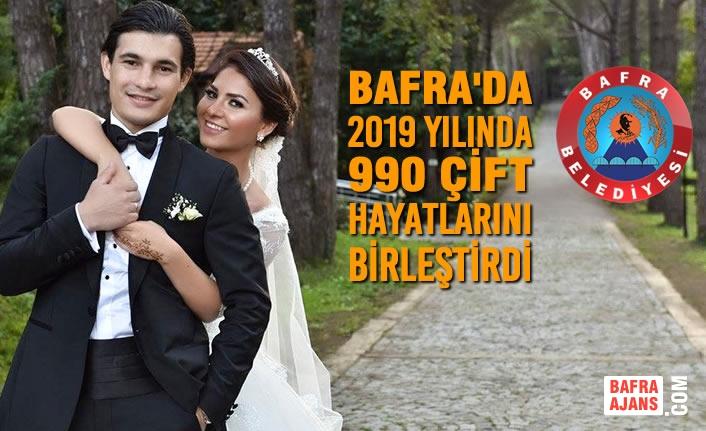 Bafra'da 2019 Yılında 990 Çift Hayatlarını Birleştirdi