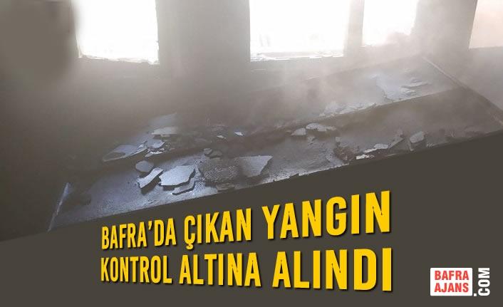 Bafra'da Çıkan Yangın Kontrol Altına Alındı