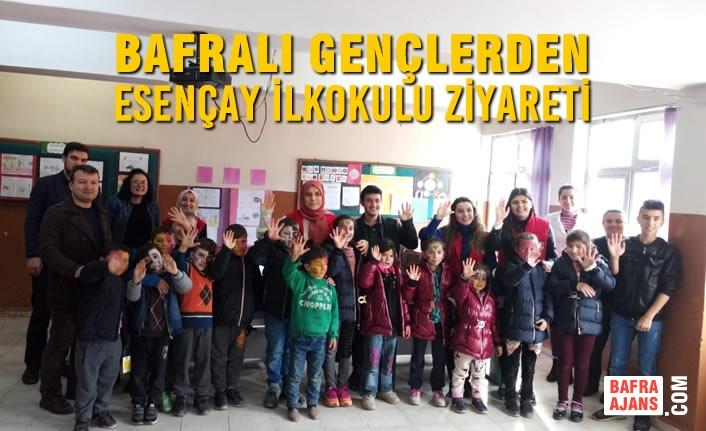 Bafralı Gençlerden Esençay İlkokulu Ziyareti