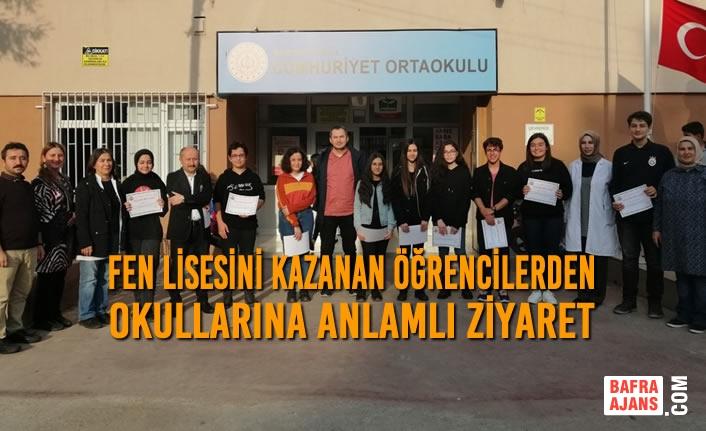 Fen Lisesini Kazanan Öğrencilerden Okullarına Anlamlı Ziyaret