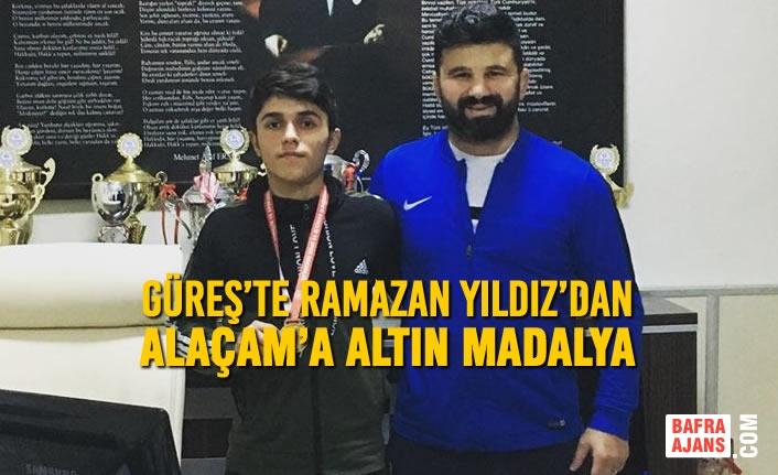 Güreş'te Ramazan Yıldız'dan Alaçam'a Altın Madalya