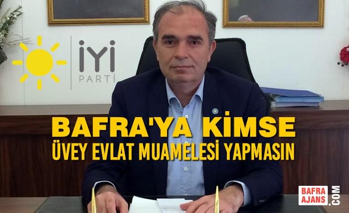 """İYİ Parti İlçe Başkanı Yılmaz; """"Bafra Neden Lağım Kokuyor"""""""