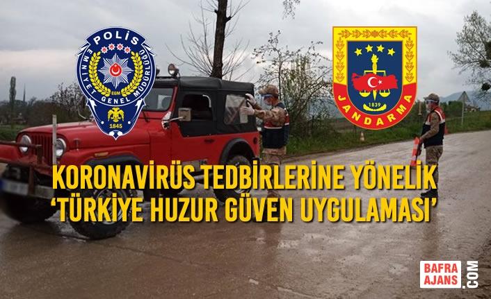 Koronavirüs Tedbirlerine Yönelik 'Türkiye Huzur Güven Uygulaması' Gerçekleştirildi