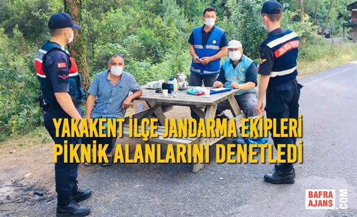 Yakakent İlçe Jandarma Ekipleri, Piknik Alanlarını Denetledi