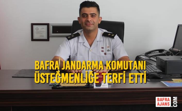 Bafra Jandarma Komutanı Üsteğmenliğe Terfi Etti