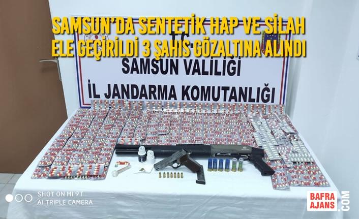 Samsun'da Esrar Maddesi ve Silah Ele Geçirildi 3 Şahıs Gözaltına Alındı