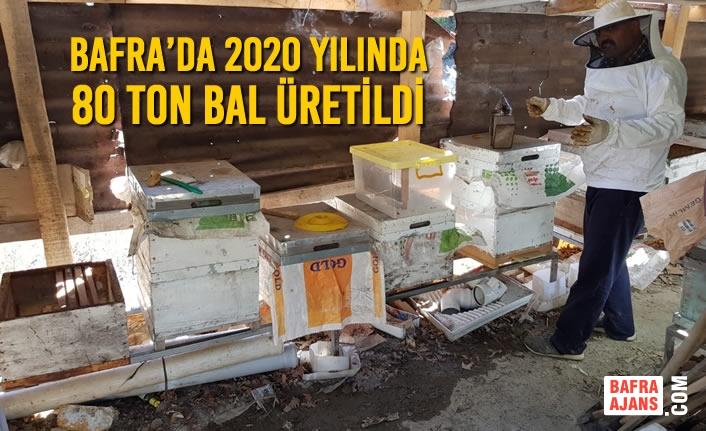Bafra'da 2020 Yılında 80 Ton Bal Üretildi