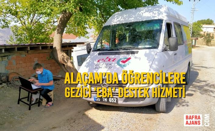 Alaçam'da Öğrencilere Gezici 'Eba' Destek Hizmeti