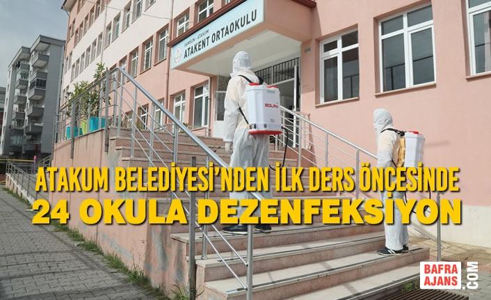 Atakum Belediyesi'nden İlk Ders Öncesinde 24 Okula Dezenfeksiyon